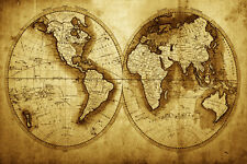 BEAUTIFUL MAP OF THE WORLD CANVAS PICTURE #16 STUNNING PHOTOGRAPHY A1 CANVAS