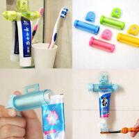 Plastic Rolling Squeezer Toothpaste Dispenser Tube Partner Sucker Hanging Holder