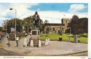 Bedfordshire Postcard - John Bunyan Statue - Ref 1116A