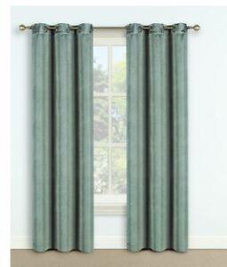 "Harper Lane Iceberg Green Thermal Blackout Curtain 42"" W x 63"" L (Single Panel)"