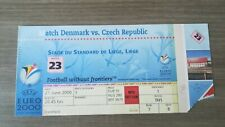 TICKET EURO 2000 DENMARK - CZECH REPUBLIC biglietto billet Tour Final