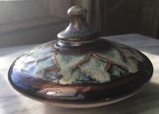 Hand Thrown Artisan Studio Decorative Stoneware Incense Burner W/Lid