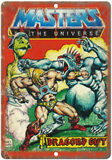 """Masters of The Universe He-Man Dragons Gift 10"""" x 7"""" Reproduction Metal Sign J08"""