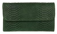 Snake Print Genuine Suede Clutch Bag Italian Leather Evening Handbag Designer
