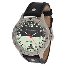 Messerschmitt Quarz Fliegeruhr ME-108DR24 Nigth & Day Aristo Pilotenuhr 24h