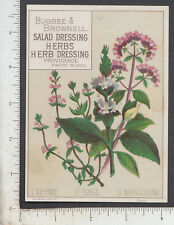 A365 Bugbee & Brownell Salad Dressing Herb trade card Thyme Sage Marjoram spices