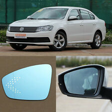 Rearview Mirror Blue Glasses LED Turn Signal with Heating For Volkswagen Lavida