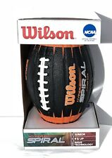 Wilson Official Ncaa Hyper Spiral Junior Size Football Wave Technology Ages 9+