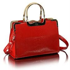 New Ladies Designer Leather Satchel Snakeskin Tote Shoulder Celebrity Handbag