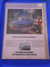 Vintage Original Automobile Advertisement Ad 13 x 10 International Truck