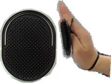 Finger Loop small black fit in Pocket Man boy hair brush military work  brush