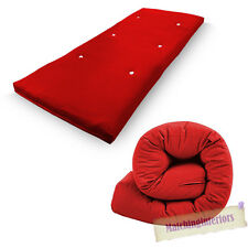 Red Budget Single Futon Sofabed Replacement Roll Up Folding Sleeping Mattress