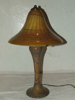 Beautiful JOE CLEARMAN Hand Blown Art Glass Table Lamp 1988 Signed & Numbered