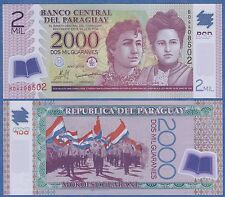 Paraguay 2000 Guaranies P 228b 2009 UNC Low Shipping Combine FREE Polymer 2 Mil