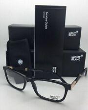 New MONTBLANC Eyeglasses MB 540 001 55-18 145 Shiny Black Frames w/ Demo Lenses