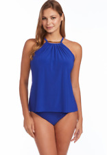 Magicsuit Miraclesuit Tankini TOP 16 Slimming A Lister Marni Blue Gold Accent