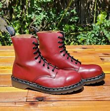 💥Tredair England Rare Vintage Cherry Red Leather Steel Toe Boots UK 7 US 8💥