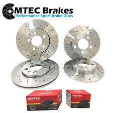 Front Rear MTEC Brake Discs & Pads Compatible With Impreza 2.0 T WRX STi 01-05
