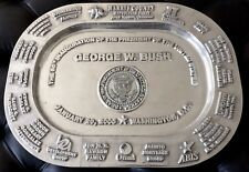 AMAZING RARE U.S. HISTORY PRESIDENT GEORGE BUSH POLITICAL INAUGURATION PLATTER