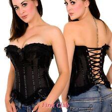 Lingerie Sexy Black Satin Corset Bustier Plus Sizes AU 3X-18 4X-20 5X-22 6XL-24