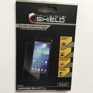 Zagg Invisible Shield Samsung Galaxy S4 Clear Screen Protector Skin Full Body