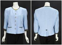 Womens Schneiders Salzburg Trachten Blazer Jacket Linen Blue Size 44 / UK18