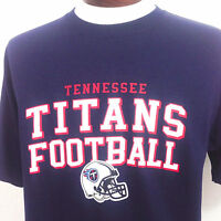 Tennessee Titans T Shirt Reebok NFL Football Navy Blue Cotton Mens Medium