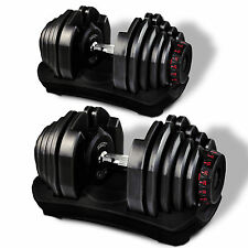 2x Sportstech AH400 adjustable 17in1-dumbbell, innovative click system, 5 - 40kg