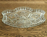 Vintage Dressing Table Cut Glass Tray. 28x18 Cm