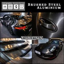 Black Steel Brushed Aluminium Adhesive Vinyl Vehicle Wrap Tint Exterior Interior
