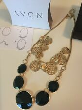 Avon Styleswap Green Scene Necklace Set. New