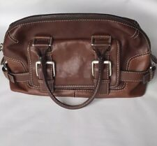 Michael Kors Shoulder 2 Tone Satchel Brown Leather Handbag Purse
