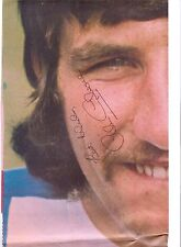 ALAN CAMPBELL BIRMINGHAM CITY 1970-1976 ORIGINAL SIGNED LARGE NEWSPAPER POSTER