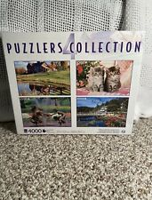 Sure-Lox Photo Gallery Jigsaw Puzzle Lot 4000 pc 4 puzzles 1000 each