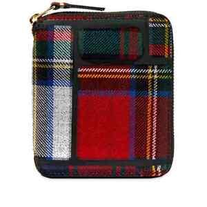 COMME DES GARCONS Red Tartan Zip Wallet  BRAND NEW IN BOX