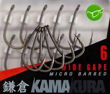Korda Kamakura Wide Gape Super Sharp Hooks - Barbed & Barbless - In Stock Now!!
