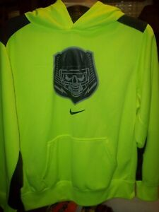NIKE DRIFIT Boy's HOODIE SWEATSHIRT ATHLETIC PULLOVER XL Neon GREEN VGC