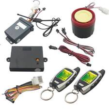 LCD Motorcycle Bike Alarm Remote Engine Start Anti-theft Security System Scooter
