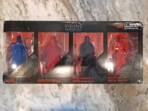 Star Wars black series 6 inch 4 Pack guards Royal/Senate/Shadow/Praetorian Set