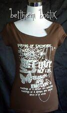 Goth : TOP MC Toile Araignée & Chaine Spider MARRON gothique Punk Japan