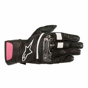 Alpinestars Stella SP-2 V2 Leather Gloves BLACK PINK SHIPS FREE