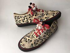 Vans Disney Mickey Mouse Size 9 Women's Vintage Serial Number 161808-1 Black Red