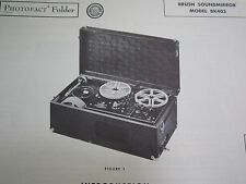 BRUSH SOUNDMIRROR BK403 TAPE RECORDER PHOTOFACT