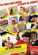 Publicité advertising 1983 Boisson boutique Coca Cola
