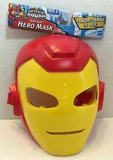 Iron Man Cartoon Hero Mask Adjustible Age 4+ New! Halloween