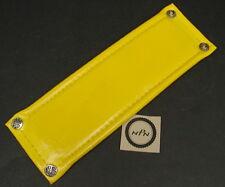 Vintage NOS Old School BMX Bicycle Rad Pad Yellow Vinyl Stem Pad w/ Snaps