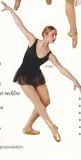 NWT Body Wrappers LYRICAL DRESS Black Skirted Tank Leotard Ladies Med P704