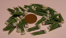 1:12 Scale Bunch Of 6 Spring Onions Dolls House Miniature Vegetable Accessory