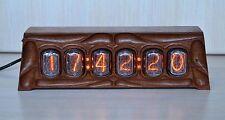 Nixie Clock IN-12 [6-Tube] Full *Natural wood* [Swietenia macrophylla] #000055
