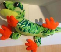 Lizard Gecko Plush Stuffed Animal Green Orange ToyFactory 42 inches Long